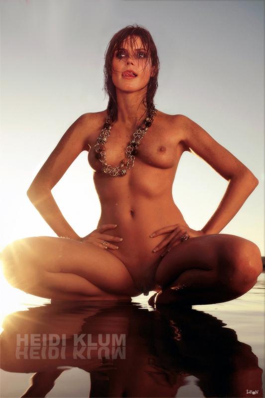 Heidi Klum nackt, Oben ohne Bilder, Playboy Fotos, Sex